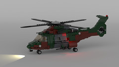 LTH-4 - Light Transport Helicopter (Quogg) Tags: helicopter helo transport lego cargo camouflage