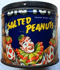 1950s Big Top Peanuts Tin (Christian Montone) Tags: vintage clowns graphics illustration peanuts 1950s