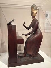 1-3 Nadelman Folk Art at NYHS (MsSusanB) Tags: nadelman nyhs piano folkart sculpture elie viola wood modernart