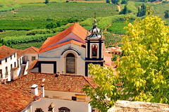124 - Obidos Igreja de So Pedro (paspog) Tags: obidos toits roofs decken tuiles tiles portugal villagemdival medievalvillage