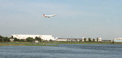 BA Concorde approaching to land at JFK airport (TheMachineStops) Tags: 1983 outdoor queens nyc newyorkcity concorde jfk airport landing 35mmscan film analog pentax sst airplane supersonic jet aeroplane aviation ba britishairways aircraft airliner plane deltawing landinggear