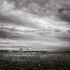 Firth of Tay (Photomat) Tags: instagramapp square squareformat iphoneography uploaded:by=instagram ludwig dundee scotland fife bridge tay river firth rail train