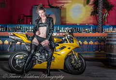 claire mc-21 (Trevor Matthews Photography) Tags: claire mcivor bike rock chick guitar motorbike suzuki daytona sexy girl hot naked nude topless trevor matthews suggestive speaker ibiza bar wigan model
