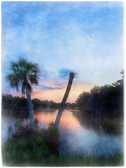 Tropical evening (Solly Avenue) Tags: waterscape light landscape sunset painterlyapp etching ipadpainting ipadsketching impressionism travel coastal painterly photomanipulation