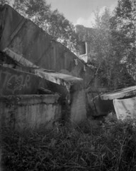 Abandoned Military Bunker (Woodent) Tags: largeformat 4x5 fomapan200 travelwide angulon9068 diafine 200 bunker industrial ruins concrete nature russia