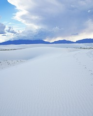 Follow The Leader (Ctuna8162) Tags: newmexico whitesands southwest footprints sand gypsum white clouds shadows