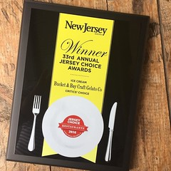 I was very surprised, excites, and humbled to find this plaque in the mail!! Tnx @njmonthly it's been an exciting first year!!! #Jerseycity #jceats #njeats #hoboken #hobokeneats #njeats #njfresh #jcmakeityours (bucketandbay) Tags: bucketandbay jerseycity gelato
