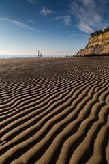 Shanklin beach early morning (andythekeys) Tags: groyne horizon tide waves sand morning isleofwight beach shanklin