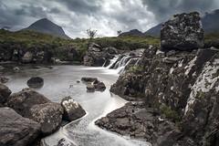 Headstone (Explored) (Griff~ography) Tags: sligachan isleofskye scotland river waterfall rocks mountains clouds stormy dark le longexposure