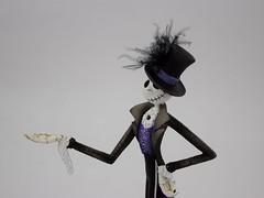 Couture de Force Jack Skellington Figurine by Enesco - Disneyland Purchase - Midrange Right Front View (drj1828) Tags: us disneyland dlr 2016 figurine nightmarebeforechristmas sally couturedeforce purchase enesco