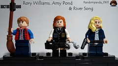 Rory Williams, Amy Pond & River Song (Random_Panda) Tags: films film movie movies tv show shows television lego figs fig figures figure minifigs minifig minifigures minifigure purist purists character characters doctor who amy pond rory williams river song
