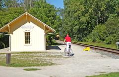 Just Missed It (craigsanders429) Tags: cuyahogavalleyscenicrailroad cvsrstations indigolake railroadstations tracks railroadtracks cuyahogavalleynationalpark bike bicycle manonbike