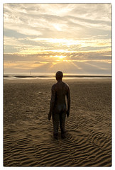 Another Place @ Crosby Beach (Dave Moseley Photography) Tags: crosbybeach merseyside anotherplace anotherplacesculpturesbyantonygormley sunset northwest davemoseleyphotography sculpture beach castironfigures liverpool