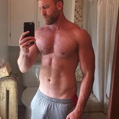Wow! (mike--123) Tags: dilf scruff vpl shorts bulge muscular