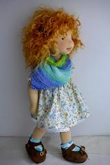 "MICHELA 20"" doll (Dearlittledoll) Tags: waldorf waldorfdoll waldorfdoll18inch waldorfclothing wool dearlittledoll artdoll natural montessori mohairhair"