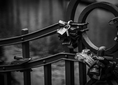 Locks in Prague II. (JanBures_com) Tags: lock bw blackwhite prague czech romantic