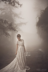 / foggy forest ( Roy Image) Tags:         fantasy glamour beautiful classical fog forest weddingdress  mist girl imagination