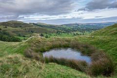 Mam Tor Pond (Aaron Miller Photo) Tags: peak peaks district castleton mam tor mountain hill hills hiking walking derbyshire walk hike nikon camera photo photography d7100 grad pond water tour green sky backtor back hollins cross
