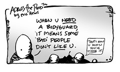 need a bodyguard - an Across the Pond™ comic by eric Hews © 2012 (eric Hews) Tags: copyright wall illustration fun virginia funny eric artist comic body drawing muscle famous humor cartoon emo guard creative funnies philosophy it richmond made strip writer comicstrip illustrator haha toon behavior society success important 2012 bodyguard psychology hews erichewscom erichews acrossthepond™ ©2012erichews ennuizle