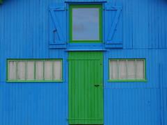 Cabane ostreicole - Oyster Hut, La grève à Duret (blafond) Tags: door house window colors colours couleurs vert bleu hut porte oyster fenetre cabane charentemaritime ostreicole lagreveaduret