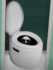 Police Arrest Peeping Tom Hiding in Bottom of Port-O-Potty (Lawyersdotcom) Tags: tom golf maine police toilet brunswick course hiding arrest peeping portopotty