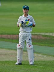 Methley A v Oulton (Steve Barowik) Tags: club ball yorkshire bat cricket council pitch whites bowler stumps umpire batsman oulton ycl methley ls26 d7000 nikon80400mmf4556dafvr barowik stevebarowik sbofls26 abbrickwork