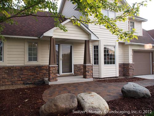 Front Entry Stoop Sidewalk Renovation Minnesota Landscape Home