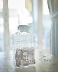 For a Rainy Day (JeezyDeezy) Tags: money bottle coins bank minimal piggybank keepitsimple kimklassen 52weeksthe2012edition beyondlayers