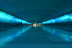 The Tunnel at the Detroit Metro Airport (WilliamMarlow) Tags: nikon michigan cc creativecommons detroitmetroairport airporttunnel d7000