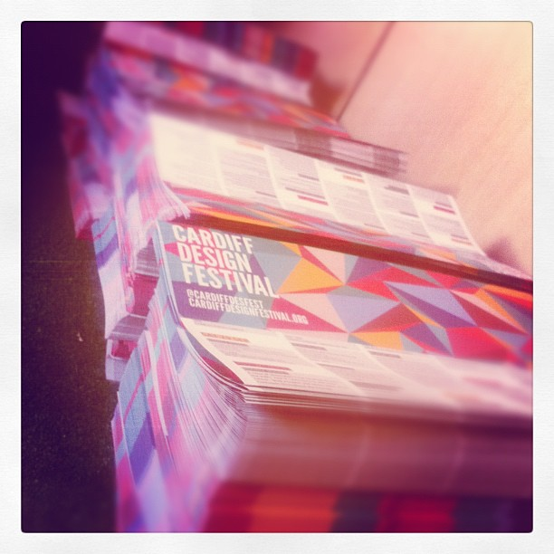 Lots of @cardiffdesfest flyers to fold!!