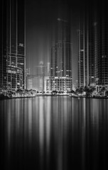 BRICKELL KEY (DOWNTOWN MIAMI) (WNDLST) Tags: reflections cityscape nightlights florida miami citylights hdr southflorida brickellkey downtownmiami movementandmotion urbanlights urbanskylines