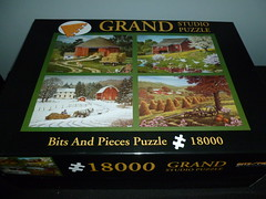 "18000 piece puzzle, ""Country Seasons"" by John Sloane, Bits and Pieces, United States (Billsville Mike) Tags: john pieces seasons farm country puzzle jigsaw hay piece bits sloane 18000"
