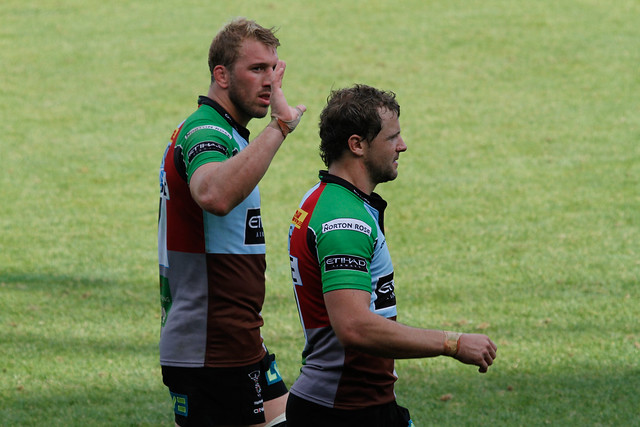 Chris Robshaw and Nick Evans