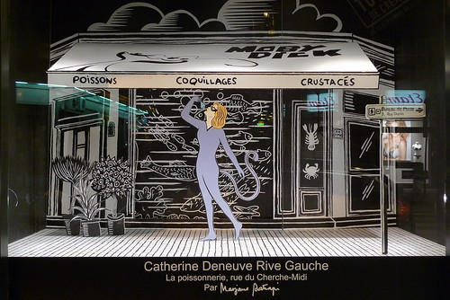 Vitrines Catherine Deneuve par Marjane Satrapi au Bon Marché - Paris, septembre 2012