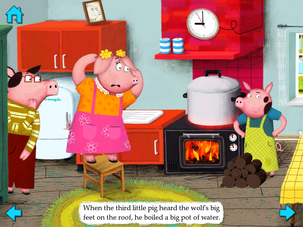The Three Little Pigs Wolf In Pot