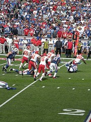 Buffalo Bills vs. Kansas City Chiefs 9.16.12 (MattBritt00) Tags: ny newyork sports football buffalo buffalobills bills stadium nfl kansascity tackle chiefs afc americanfootball orchardpark footballstadium kansascitychiefs ralphwilsonstadium nickbarnett nationalfootballleague americanfootballconference