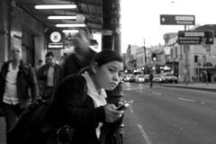 CROSSING THE LINE (Jgor Cava) Tags: road street city people streets 35mm fix buzz lights nikon strada availablelight candid sydney streetphotography fast australia busy rush moment newtown innerwest strade decisivemoment enmore traffico acp metropoli jgor d300s fixlens jgorcavallina