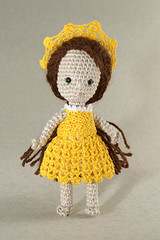 Brunett mini doll with Easter dress (Anita - Annie's Granny Design) Tags: crochet amigurumi crochetdolls minifreespirit