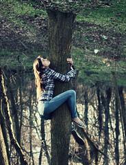 I never know what I'm doing... (TessOlivia,) Tags: tree photomanipulation photoshop upsidedown manipulation climbing weirdo really treeclimbing idontknow cs6 tessolivia