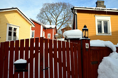 Porvoo (fede_gen88) Tags: suomi finland winter cold snow porvoo europe oldhouse oldtown old houses red yellow nikon d5100