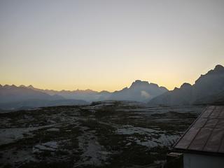 Dolomiten bei Sonnenuntergang