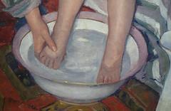 Cassatt, The Child's Bath, detail with feet