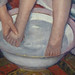 Cassatt, The Child's Bath, detail with feet