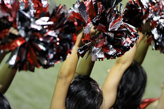 Poms - UNLV vs Air Force - Las Vegas, NV (tossmeanote) Tags: las vegas girls red game college sports night canon scarlet geotagged eos rebel grey dance football team university force sam stadium air nevada nv boyd unlv falcons afa 2012 rebels poms rebs 60d tossmeanote