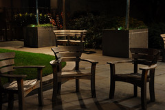 no one home (patart00) Tags: london night lights benches embankment victoriaembankment chiars