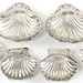 Lot 2018.  Six Sterling Silver Shell Dishes