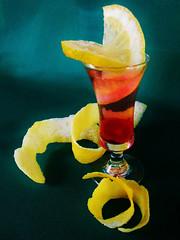 Lemon Twist (Cathlon) Tags: red yellow cherry rind lemon drink twist cocktail peel cmwd odc2 ourdailychallenge