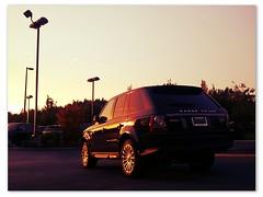 Sundown Over The Range Rover (KurtClark) Tags: county autumn sunset urban fall colors washington king seasons sundown suburban fallcolors change suburb eastside rangerover bellevue urbanautumn northup ivanfilter pixlromatic