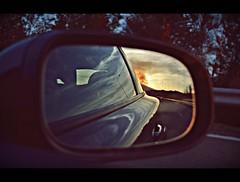 Last rays of light (PattyK.) Tags: light sunset sky reflection reflections mirror moving nikon europa europe hellas september greece grecia balkans griechenland ontheroad europeanunion myphotos grece photgraphy 2012  ellada  thessalia            nikond3100