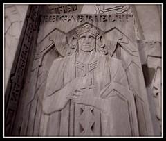 Detail: The Angel Gabriel, National Shrine of the Little Flower--Royal Oak MI (pinehurst19475) Tags: art gabriel church angel catholic catholicchurch woodward sculptor royaloak woodwardavenue shrineofthelittleflower royaloakmichigan sculpturalrelief nationalshrineofthelittleflower woodwardavenuechurch fathercoughlin fathercharlescoughlin renepaulchambellan